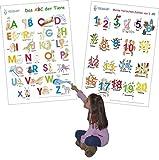 Das ABC der Tiere + Meine tierischen Zahlen von 1-20: 2 Lernposter, gerollt, abwaschbar + UV-Lack beschichtet