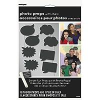 Unique Party Paquete de 8 accesorios de cabina de fotos Pizarra 63566