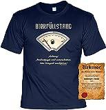 Cerveza llenado. Divertido divertido Sprüche FUN–Camiseta con certificado. azul marino Talla única