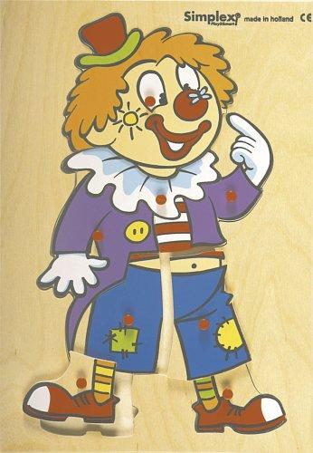 Dujardin - 36456 - Puzzle enfants - Simplex Le Clown