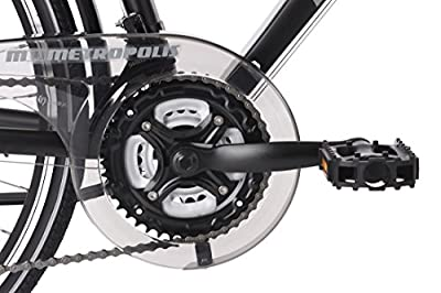 KS Cycling Herren Trekkingrad Alu-Rahmen Metropolis RH 56 cm Flachlenker Fahrrad, Schwarz, 28