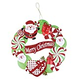 Junjie Mode Weihnachts-Papier-Girlande,Romantic String Hanging Charm Party Decoration Christmas Tree Ornament Wreath Papier 35 cm