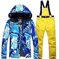 Jiuyizhe Chaqueta del esquí del Camuflaje de los Hombres Gruesos a Prueba de Viento Traje Traje Impermeable a Prueba de Calor (Color : 04, Size : XXL)