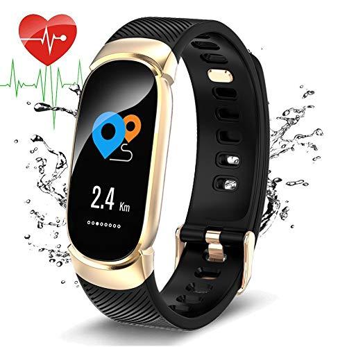 WISHDOIT Fitness Tracker, Aktivitäts Tracker mit Pulsmesser IP67 wasserdichte Schlaf Monitor Pedometer Kalorienzähler für Damen Herren Anruf SMS SNS Push für iOS Android Phone