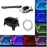 Jainsons Pet Products Submersible Aquarium Light Underwater LED Lighting Color Changing Mode (LED H-20 With Single Nozzle Air Pump)