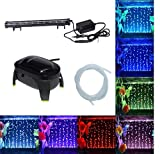 #5: Jainsons Pet Products Submersible Aquarium Light Underwater LED Lighting Color Changing Mode (LED H-38 with Single Nozzle Air Pump)