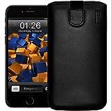 mumbi Étui de protection en cuir pour iPhone iPhone 6 Plus Etui schwarz noir