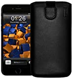 Mumbi Leather Cover - Funda calcetín para Apple iPhone 6 Plus, negro