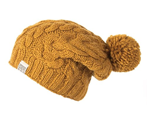 1b25a95a6aa101 Kusan 100% Wool Cable Knit Bobble Beanie hat (PK1128/KU1501)  (Mens/Ladies/Unisex) (Yellow) - Buy Online in Oman.   Apparel Products in  Oman - See Prices, ...