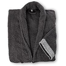 Lumaland Albornoz Unisex de algodón L XL XXL lavable hasta 60 °Capto para la secadora