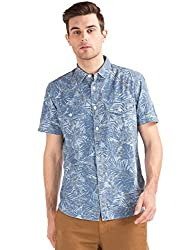 GAP Mens Casual Shirt (146943200005_72367335800_X-Small_Indigo)