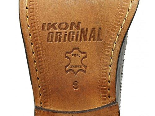 Ikon YORKE Mens Leather Brogue Shoes Black UK 6