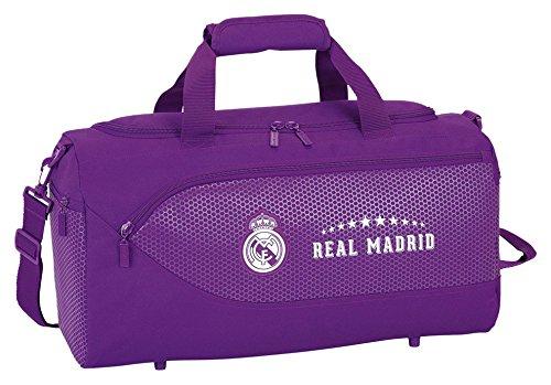 Safta Real Madrid 2ª Equipación Bolsa de Deporte y Viaje, 50 x 25 x 25 cm, 40 Litros, Color Morado