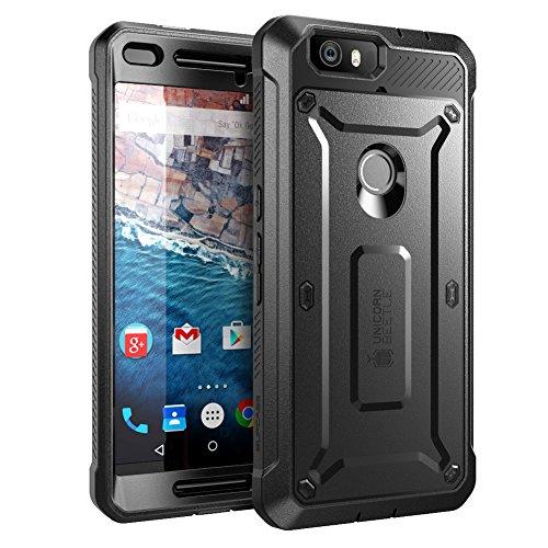 SupCase Nexus 6P Hülle (2015 Release), [Unicorn Beetle PRO Serie] Case mit integriertem Bildschirmschutz & Gürtelclip Zubehör (Schwarz)