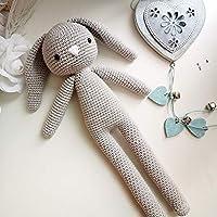 Mummy_Coniglietto amigurumi grigio. coniglio all'uncinetto regalo per bambini e adulti. idea regalo. pupazzo. coniglio imbottito fatto a mano.