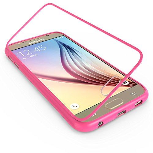 youcase - Samsung Galaxy S5 Mini G800 Touch Case TPU-Schutz-Hülle mit Schutzfolie Displayfolie Outdoor Smart Cover Tasche Etui Silikon pink