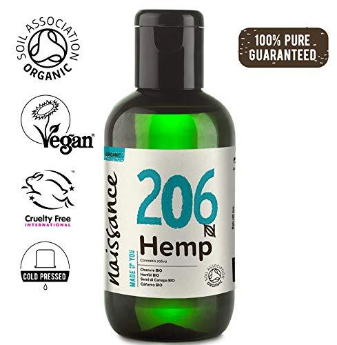 Naissance Hanfsamenöl BIO (Nr. 206) 100ml - nativ, kaltgepresst, 100% rein - vegan und tierversuchsfrei - reich an Omega-3 und Omega-6 -