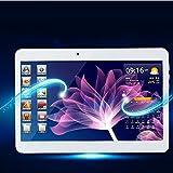 """Soledpower 10.1"""" Google Android 4.4 3G Phone Tablet PC Webcam Wifi Dual-Core Cores Dual SIM Bluetooth, White Color, [Importado de UK]"""