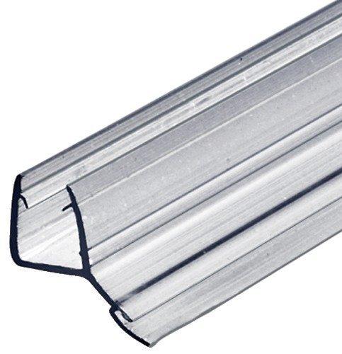 Glastürdichtung Dusche Lippendichtung Duschtür-Dichtung für Duschkabinen 135° zum Abdichten vom Boden | Länge 2000 mm | PVC Transparent | Wasserabweiser für Glasdicke 8 - 10 mm