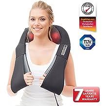 DAS ORIGINAL Nackenmassagegerät Donnerberg® NM089 schwarz | Shiatsu Massagekissen | Infrarotwärme | TÜV Zertifikat | 7 Jahre Garantie | Ideal für Zuhause und Unterwegs mit Autoadapter