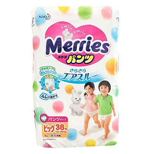 Japanese diapers panties Merries PBL (12-22 kg)// Японские подгузники Merries PBL (12-22 kg) 51t8FU9m7xL