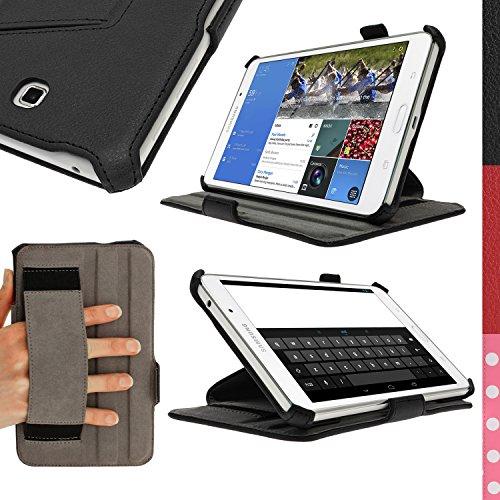 igadgitz Premium Schwarz PU Leder Tasche für Samsung Galaxy Tab 4 8.0