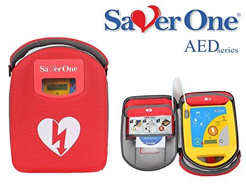 SAVER ONE AED Defibrillator SA1 mit halbautomatischer Schockauslösung und Saver One Vollausstattung