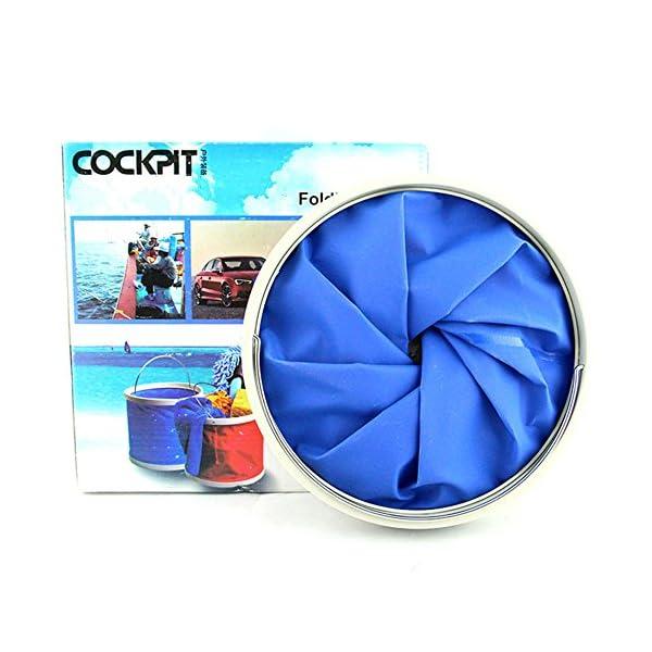 Cubo plegable Cubeta de agua portátil Multiuso - Apto para acampar, Deportes al aire libre, Uso doméstico, Cubo de agua para lavado de autos Capacidad de 11L - Ligero y fácil de transportar 1