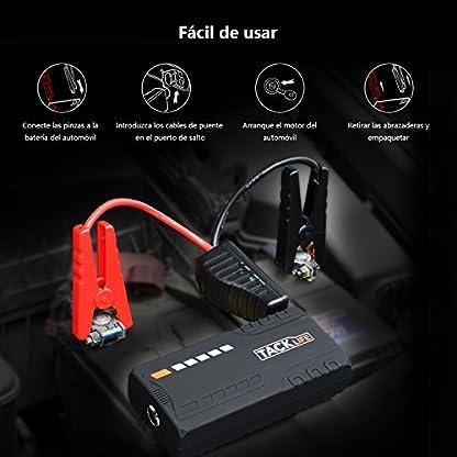 51t8GVfHNaL. SS416  - Arrancador de Coche, TACKLIFE-T6- 16500 mAh 600 A Real, Jump Starter 12 V, Arranque Batería para vehículo con Pinzas inteligentes, Bateria Externa, LED, Toma de mechero