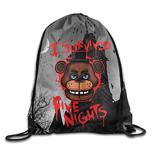 Canace cinco noches en Freddy de deportes al aire libre cordón bolsas mochila, Blanco, talla