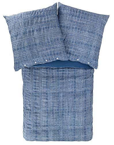 Zucchi Bettwäsche Solferino   V3 blau - 155 x 220 cm