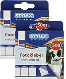 STYLEX Sparpaket: Fotosticker, selbstklebend, 2x500 Stück