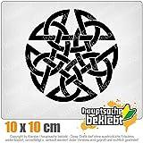 KIWISTAR Celtic PentagramPentacle Druids 10 x 10 cm IN 15 FARBEN - Neon + Chrom! Sticker Aufkleber