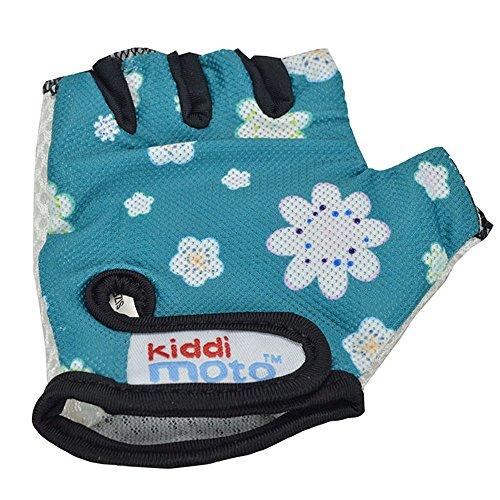 Kiddimoto GLV068S - Fahrrad Skater Handschuhe für Kinder Fleur, Gr.S (2-5 Jahre)
