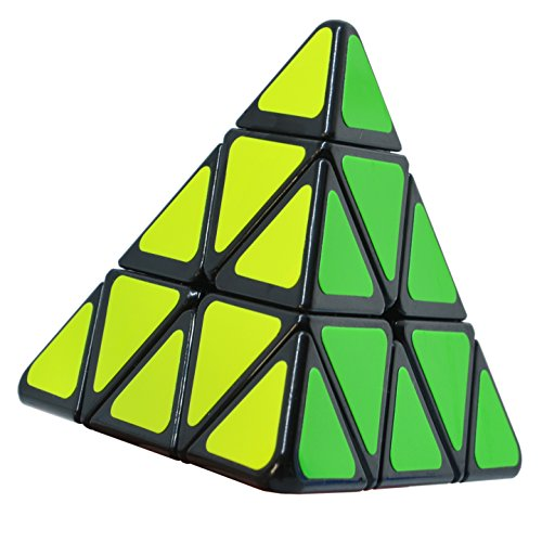 Maomaoyu Nouveau Pyraminx 3x3 3x3x3 Triangle Magique Pyramide Speed Cube Magic Cube Puzzle Ultra Rapide (Noir)