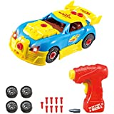 Construction Toy Racing Car Kit For Kids TG642 - Build Your Own Car Kit (Version 2!!) - 30 Take Apart Pieces With Realistic Sounds & Lights By ThinkGizmos (Trademark Protected) by Thinkgizmos
