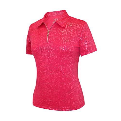 Monterey Club Damen Dry Swing Feuerwerk Folie Massiv Shirt # 2441, Damen, Beere, Large - Club-camp-shirt