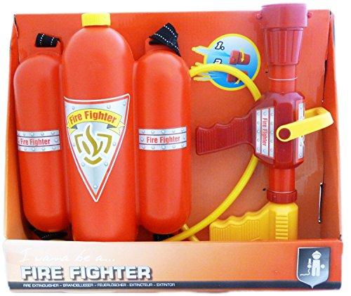 tole inkl. Füll-Tanks und Schlauch Wasser-Werfer Kinder-Spielzeug Rot Gelb Feuerwehr Wasser-Spritze Sommer-Spielzeug Spielzeug-Pistole Wasser-Gewehr Aqua-Gun Pool-Kanone Planschbecken-Pistole (Kinder Wasser Pistolen)