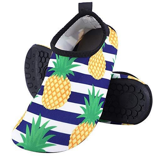 VGEBY1 Kinder Wassersportschuhe, Strandschuhe Wasserschuhe modische atmungsaktive Kids Beach Yoga Schuhe Trekking Schnorchelschuhe(32-33)