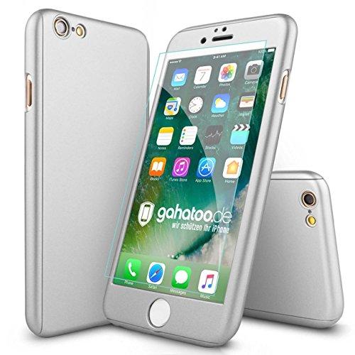 CASYLT® iPhone 6 / 6s Hülle 360 Grad Fullbody Case [inkl. 2X Panzerglas] Premium Komplettschutz Handyhülle Silber