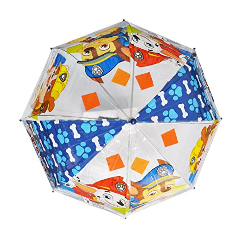 Patrulla Canina Diseño niños - Paraguas infantil, en forma de burbuja, transparente, manual - Arditex PW11459