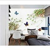 Zybnb Moderne Wall Paper-3D Romantische Kleine Frische Blumenstrauß Fotowand Papier Für Kinderzimmer Tv Hintergrund Große Wandbild Extra Dick