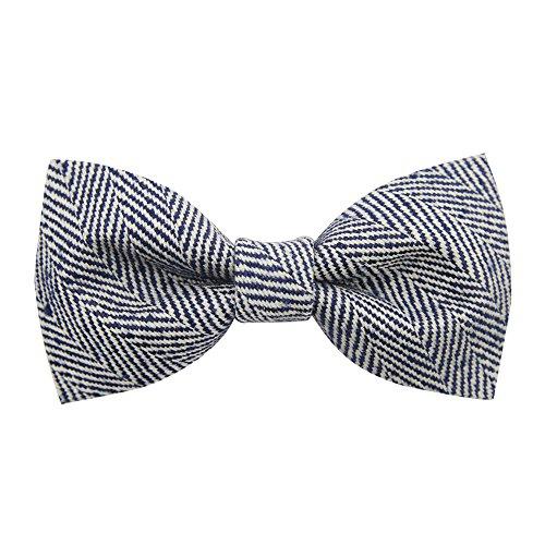 100% Seide Fliege Bindung der Männer Geschenk Art und Weise Partei Hochzeit Bräutigam business casual Bogen (Weiß-gestreift Handgemachte Seide Krawatte)