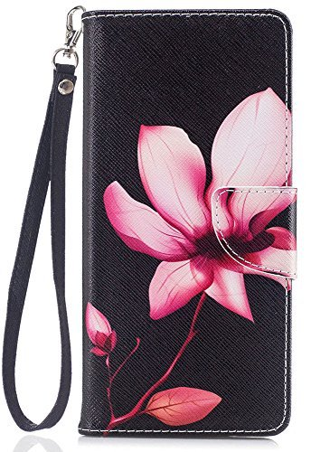 Note 8 Case, Note 8 Wallet Case, jancalm [Handschlaufe] [Standfunktion] [/Cash Slots] Muster Premium PU Leder Brieftasche Handy Fällen Flip Cover für Samsung Galaxy Note 8 + Pen, Flowers Pattern - Galaxy Note 3 Leather Case Wallet