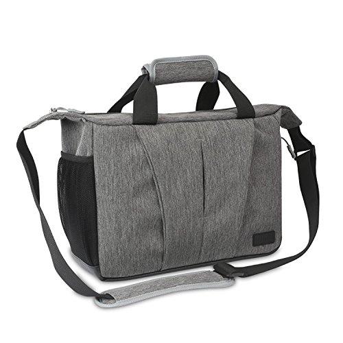 DSLR SLR Kameratasche Kamera Tasche - BUBM Wasserdicht Kameratasche Aktentasche herausnehmbar Kamerafach Umhängetasche Fototasche für DSLR Objektiv Laptopfach SLR-Kamera für Nikon, Canon, Sony, Pentax, (2018 NEUES DESIGN), 2 Jahre Garantie