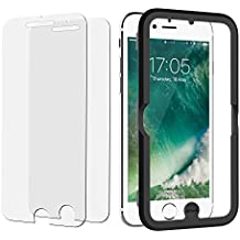 "Protector Pantalla iPhone 7 Plus, JETech 2 Unidades Vidrio Templado Protector de Pantalla para Apple iPhone 7 Plus, iPhone 6S Plus, iPhone 6 Plus 5.5"" con Herramienta de fácil instalación"