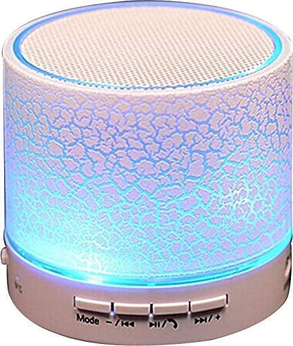GoRishi Wireless LED Bluetooth Speakers S10 Handfree with Calling Functions & FM Radio for All Smartphones (One Year Warranty, Assorted Colour)