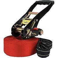 ALPIDEX Slackline 15 m für Anfänger und Fortgeschrittene geeignet, max. Belastung 2 Tonnen, inkl. Transportbeutel -