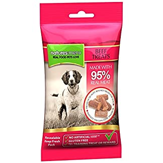 3 x Packs of Real Beef mini treats (for small dogs) 60g packs – Natures Menu – Made with 95% REAL MEAT – Wheat & Gluten Free 51t8OY5mUCL