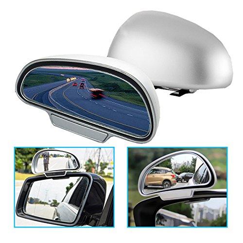 O45 TOP KFZ Auto Toter Winkel Spiegel Außenspiegel Blindspiegel Fahrschulspiegel, erleichtert das Rückwertsfahren und Einparken, Material: Kunststoff, Metall und Spiegelglas
